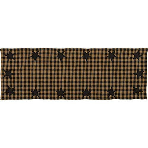 - VHC Brands 20137 Classic Country Primitive Tabletop & Kitchen-Star Woven Runner, 13