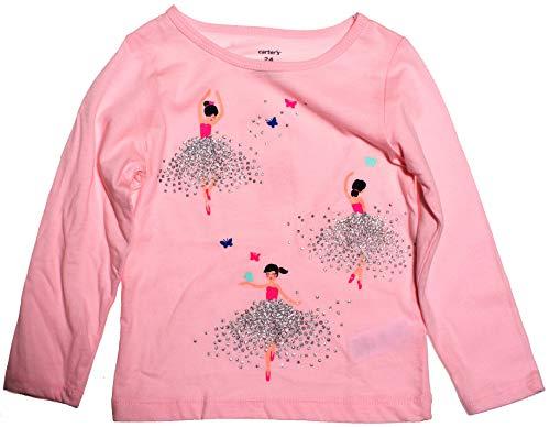 Carters Girl L/S Sequins Ballerina Tee; Light Pink (6M)