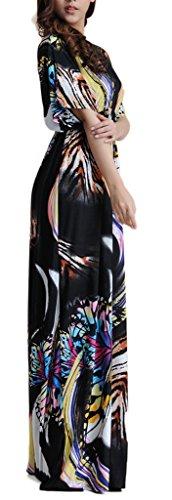 Wantdo Mujer Vestido De Playa Pareo Bohemo V Talla Extra Mariposa