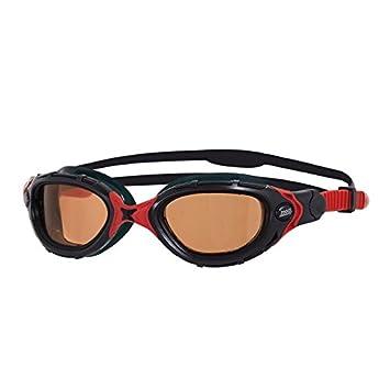 Zoggs Predator Flex Polarized Ultra gafas negro/rojo