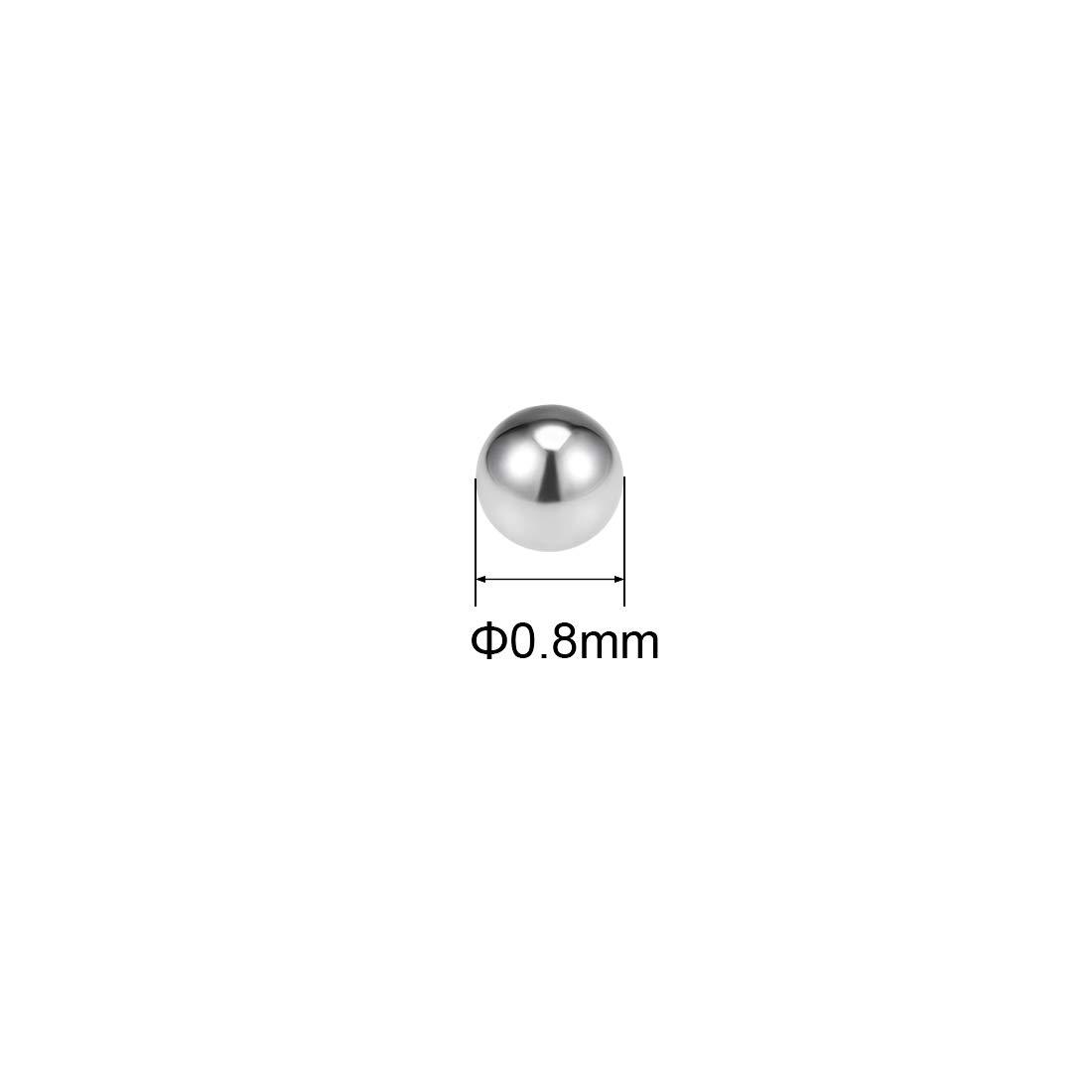 sourcing map 0.5mm-1.8mm Roulement /à Billes 304 Acier Inoxydable G200 Billes Pr/écision 0.5mm 100Pcs