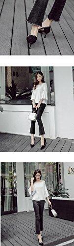 Highxe 39 Pattini Pattino Tallone Gatto E Black Confortevoli Eleganti Gli Alti 7cm Appuntato 38 Del Talloni Camoscio Ha I rqFRrwxA
