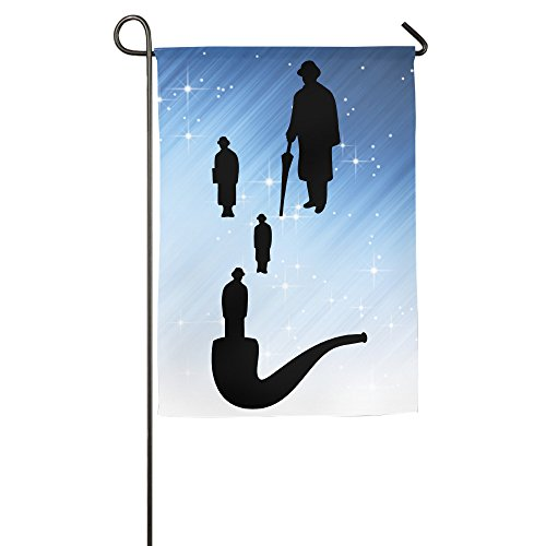 Pipe Silhouettes Golconda 1c Online Family Party Patio Garden Flags All-Weather Polyester 12 X 18 Prime (Houston Museum Halloween Party)