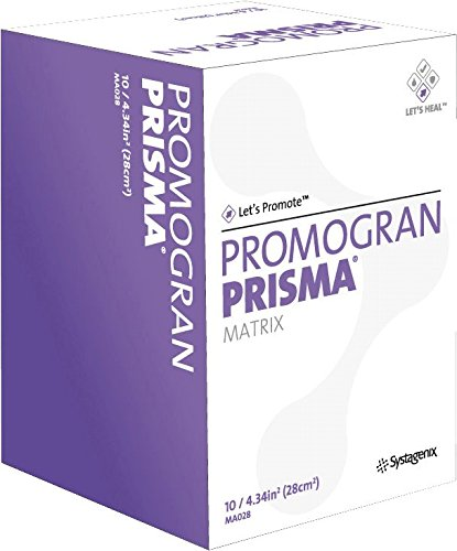 Box of 10 PROMOGRAN PRISMA Matrix 4.34 Sq inches JOHNSON & JOHNSON MA028 JNJMA028 Box by Johnson & Johnson