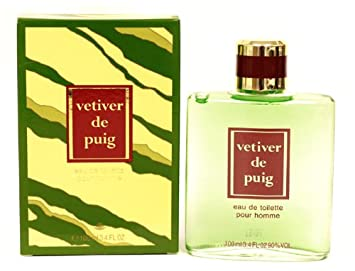 Vetiver De Puig by Puig for Men. 3.4 Oz Eau De Toilette Splash