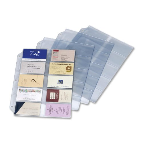 Cardinal Business Card Refills (7856 000) (Ring Three Binder Refill)