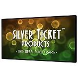 "STT-169150 Silver Ticket Thin Bezel 16:9 Aspect Ratio 4K Ultra HD Ready HDTV (6 Piece Fixed Frame) Projector Screen (16:9, 150"", White Material)"