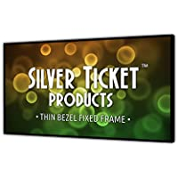 STT-169100 Silver Ticket Thin Bezel 16:9 Aspect Ratio 4K Ultra HD Ready HDTV (6 Piece Fixed Frame) Projector Screen (16:9, 100, White Material)