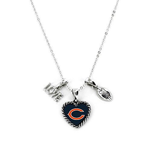 Aminco International NFL Chicago Bears Charmed Love Football Necklace from Aminco International