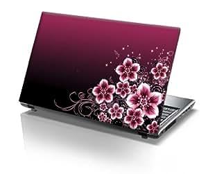 "TaylorHe Laptop Skin Pegatina de vinilo Adhesivo para portátiles 15,6"" 15"" (38cm x 25,5cm) Productos de Gran Bretaña flores, rosa"