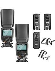 Neewer nw-561 - schermo LCD flash Speedlite kit per Canon Nikon e altre fotocamere DSLR, include: (2) nw-561 flash + (1) GHz wireless Trigger (1 * trasmettitore + 2 * ricevitore)