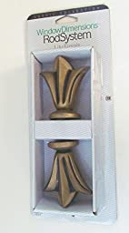 Window Dimensions Rod System Lily Finials