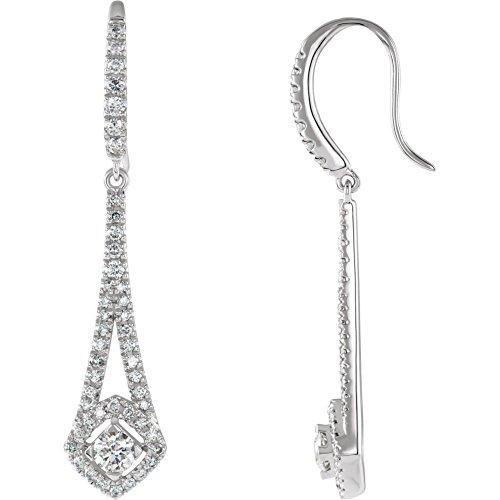 (Jewels By Lux 14K White Gold 3/4 CTW Diamond Chandelier Earrings)