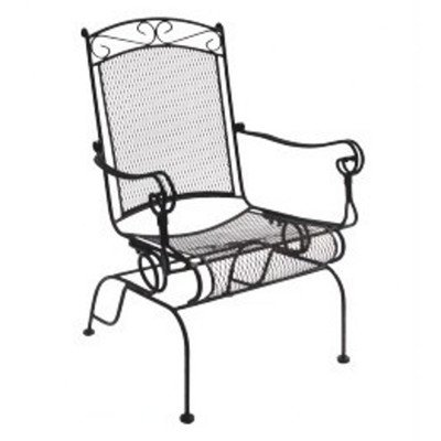 DC America WIS288 Charleston Wrought Iron High Back Rocker - 2 pk