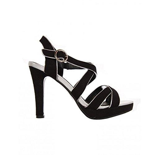 727782 Black Femme Urban Sandales Pour b7200 silver 1PCZxC