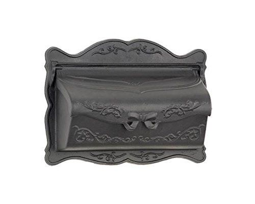 (Provincial Wallmount Non-Lockable Mailbox in Black Finish)