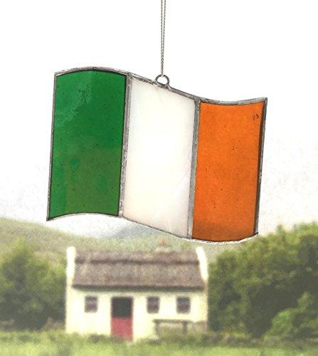 Irish Celtic Stained Glass Window Suncatcher (Tricolor Irish Flag, - Suncatchers Wholesale