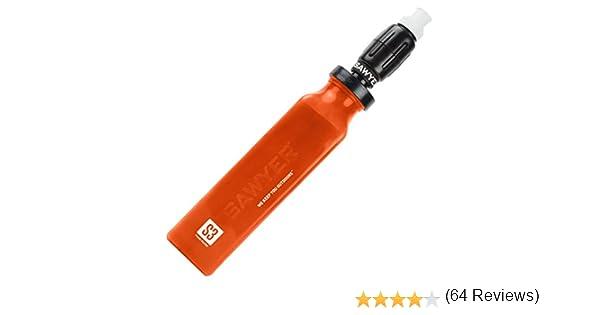 Sawyer Products Select Series Filtro de agua y purificador con filtro micro comprimido y botella de repuesto (S1, S3), Botella de agua con filtro, SP4320, naranja, 3 x 8.5 x 14 inches: