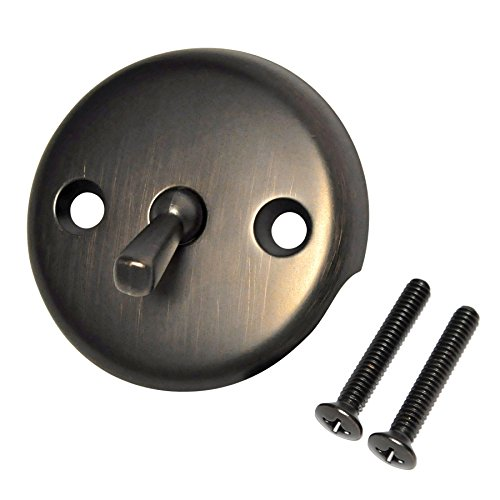 Plate Lever Handle - DANCO Overflow Plate with Trip Lever, Oil Rubbed Bronze, 1-Pack (89472)