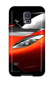 Tpu Michael Volpe Shockproof Scratcheproof Tesla Roadster Sports Car Hard Case Cover For Galaxy S5