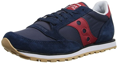 Saucony Originals Men's Jazz Low Pro Classic Retro Sneaker, Navy/Red, 10.5 M US