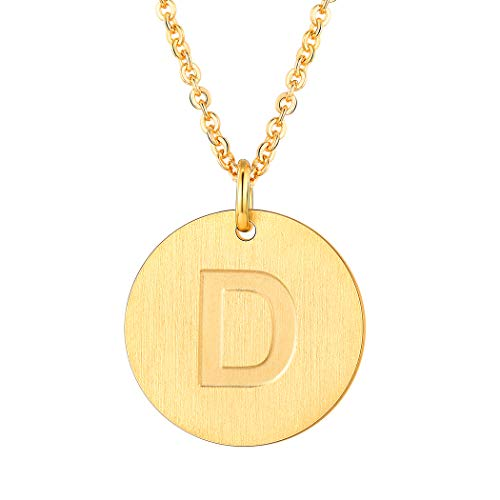 Suplight Initial Letter Necklace