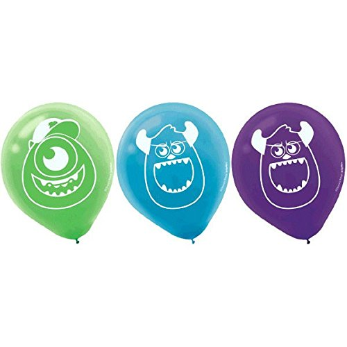 Amscan Monster-Mazing Disney Monsters University Printed Latex Birthday Party Balloon Decoration (Pack Of 6), Multicolor, 12