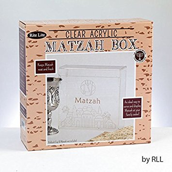 - Clear Acrylic Flip top Matzah Box Holder