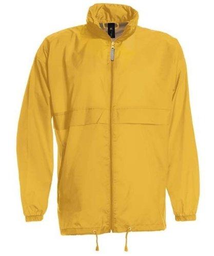 B&C Scirocco Unisex Windbreaker, Outdoor Regenjacke für Damen und Herren. Größen S, M, L, XL, XXL und 3XL, 12 Farben, Größe:XL;Farbe:Ultra Yellow