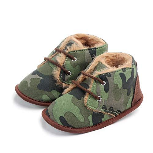 e0edd774565f Multicolor Unisex Baby Warm Non-Slip Soft Sole Boots Infant Prewalker  Nursling Snow Shoes (Age 6-12Months