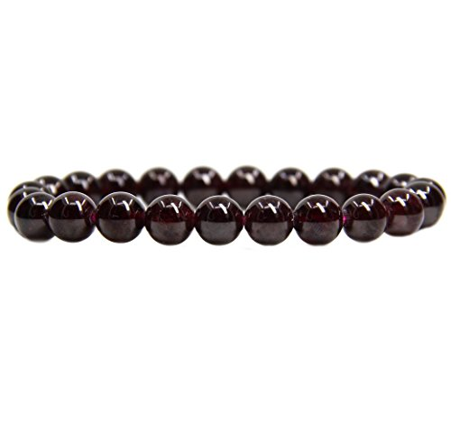 natural-a-grade-red-garnet-gemstone-8mm-round-beads-stretch-bracelet-7-unisex
