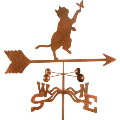 Roof Mount Weather Vane, Model 9341, Cat/Butterfly