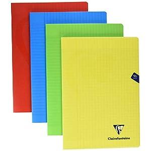 Clairefontaine 294161AMZC - Lote de 4 cuadernos grapados con cubierta