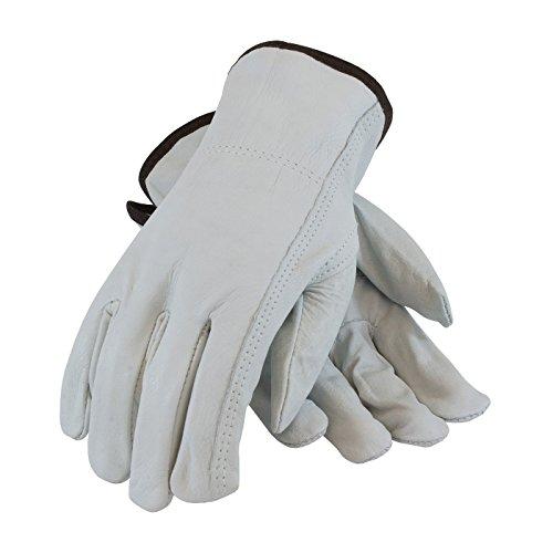 PIP 68-163/M Regular Grade Top Grain Cowhide Leather Driver's Glove, Keystone Thumb, 10 Dozen/Case ()