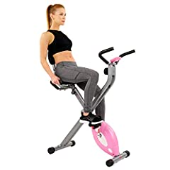 Achieve a complete cardio workout on a compact machine with the SF-RB1117 Pink Folding Recumbent Bike. This stylish bike combines cycling and comfort. Step into the adjustable pedal straps that easily strap to your foot. Remain seated on the ...