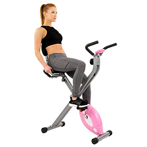 Sunny Health & Fitness Magnetic Folding Recumbent Bike Exerc