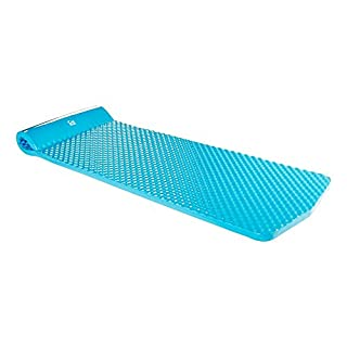 """Fun Float Floating Pool Bed(Blue) Mat/Pad Soft Memory Foam with Vinyl Coat and Head Pillow, Lounger, Float Toy, Floaties, Swimming Raft, Outdoor Swimming, Relaxing or Pool Party, 1.5"""" Thick"""