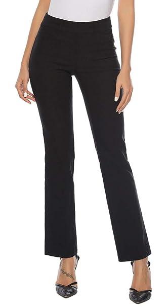 Amazon.com: iChosy Pantalones de vestir elásticos con corte ...