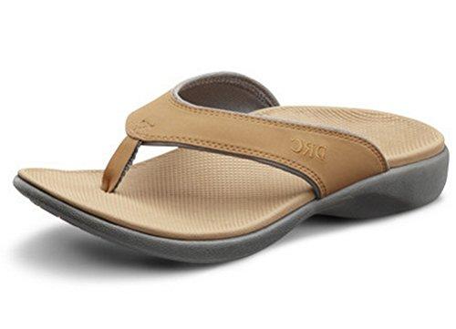 Dr.Comfort Women's Shannon Sandal - Camel 5 C/D (Women Ortho Slippers)