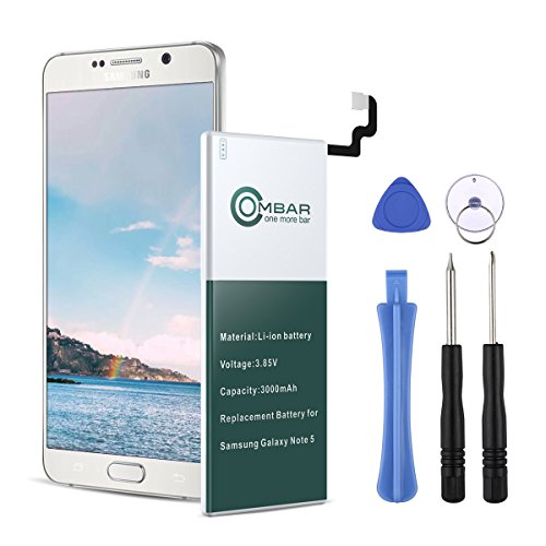 Ombar Replacement Battery Compatible with Samsung Galaxy Note 5, Fit with Original EB-BN920ABE SM-N920 N920T N920A N920P N920V with Replacement Tools [24 Month Warranty]