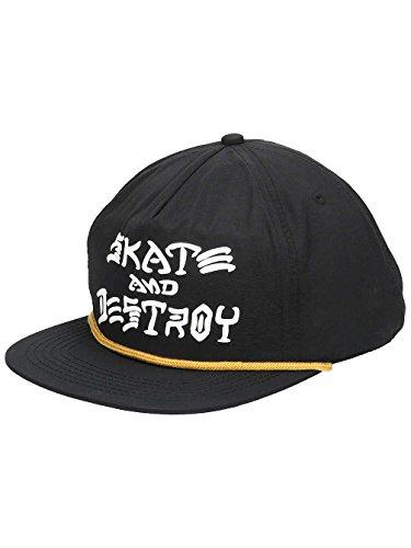 Thrasher Skate and Destroy Puff Ink Snapback Hat Black OS