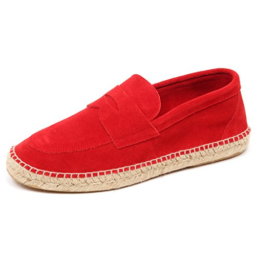 espadrillas D2584 ABARCA man mocassino shoe uomo red Rosso loafer leather dPwBXqnw