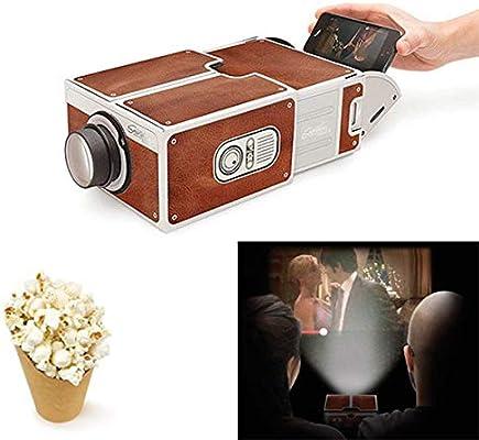 Accrie DIY 3D proyector de cartón Mini Smartphone proyector luz ...