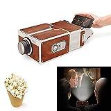 OUYAWEI Electronics DIY 3D Projector Cardboard Mini Smartphone Projector Light Novelty Adjustable Mobile Phone Projector Portable Cinema