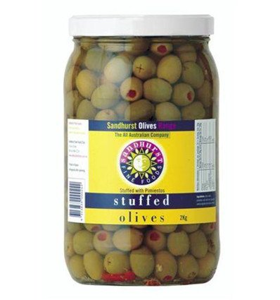 Sandhurst Fine Foods Stuffed Green Olives 2kg
