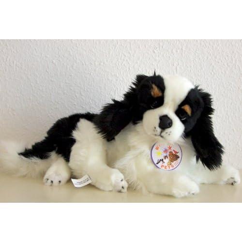 King charles spaniel chien 36 cm de luigi bocchetta big, peluche