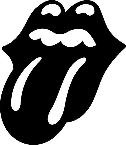 ShopForAllYou Stickers & Decals (White) The Rolling Stones Tongue Classic Rock Vinyl Decal Sticker Car Truck Window