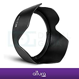 (Canon EW-73B Replacement) Altura Photo Lens Hood for Canon 18-135mm EF-S f/3.5-5.6 IS, EF-S 18-135mm f/3.5-5.6 IS STM, 17-85mm EF-S f/4.5-5.6 IS USM Lenses