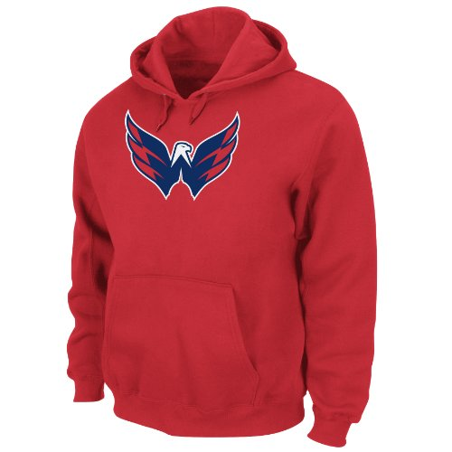 NHL Men's Washington Capitals Heat Seal Long Sleeve Hooded Fleece Pullover (Athletic Red, XX-Large)