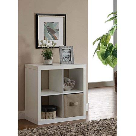 Better Homes and Gardens* Wood Storage Square Organizer 4-Cube Bookshelf in White, Set of 2